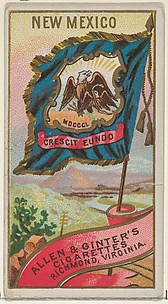 New Mexico, from Flags of the States and Territories (N11) for Allen & Ginter Cigarettes Brands