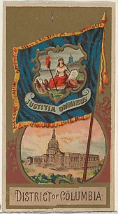 District of Columbia, from Flags of the States and Territories (N11) for Allen & Ginter Cigarettes Brands