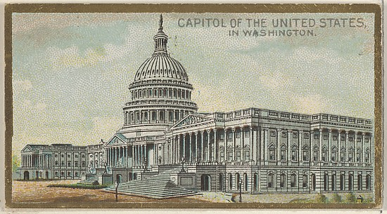 Capitol of the United States in Washington, from the General Government and State Capitol Buildings series (N14) for Allen & Ginter Cigarettes Brands