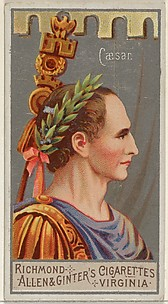 Gaius Julius Cæsar, from the Great Generals series (N15) for Allen & Ginter Cigarettes Brands