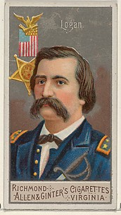 John Alexander Logan, from the Great Generals series (N15) for Allen & Ginter Cigarettes Brands