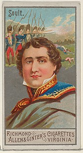 Nicolas Jean-de-Dieu Soult, from the Great Generals series (N15) for Allen & Ginter Cigarettes Brands