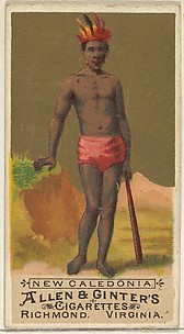 New Caledonia, from the Natives in Costume series (N16) for Allen & Ginter Cigarettes Brands