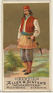 Serbia, from the Natives in Costume series (N16) for Allen & Ginter Cigarettes Brands