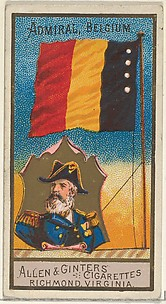 Admiral, Belgium, from the Naval Flags series (N17) for Allen & Ginter Cigarettes Brands