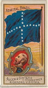 Admiral, Brazil, from the Naval Flags series (N17) for Allen & Ginter Cigarettes Brands