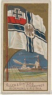 Man of War, Germany, from the Naval Flags series (N17) for Allen & Ginter Cigarettes Brands