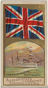 Admiral of the Fleet, Great Britain, from the Naval Flags series (N17) for Allen & Ginter Cigarettes Brands