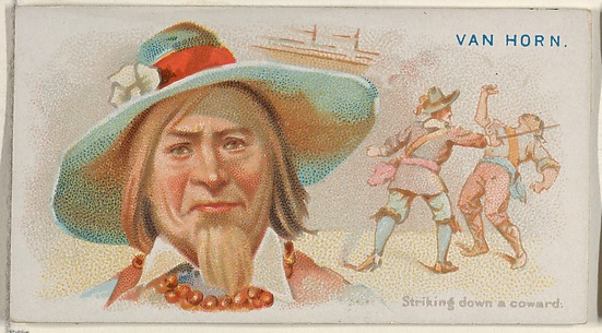 Van Horn, Striking Down a Coward, from the Pirates of the Spanish Main series (N19) for Allen & Ginter Cigarettes