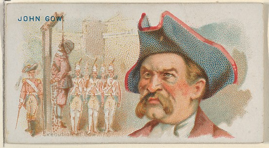 John Gow, Execution of Gow, from the Pirates of the Spanish Main series (N19) for Allen & Ginter Cigarettes