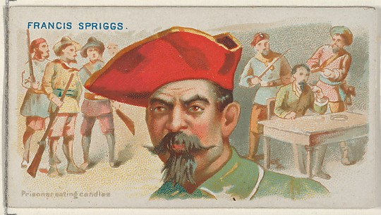 Francis Spriggs, Prisoner Eating Candles, from the Pirates of the Spanish Main series (N19) for Allen & Ginter Cigarettes