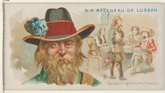 Sir Raveneau de Lussan, Bargaining with the Captain, from the Pirates of the Spanish Main series (N19) for Allen & Ginter Cigarettes