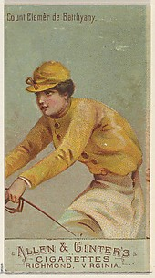 Count Elemer de Batthyany, from the Racing Colors of the World series (N22b) for Allen & Ginter Cigarettes
