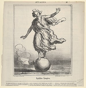Equilibre Europeen, from Actualites, published in le Charivari, April 3, 1867