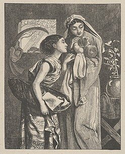 The Infant Moses (Dalziels' Bible Gallery)
