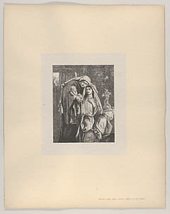 Naomi and the Child Obed (Dalziels' Bible Gallery)
