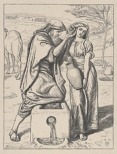 Eliezer and Rebekah at the Well (Dalziels' Bible Gallery)