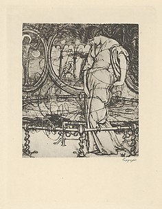 The Lady of Shalott  (for The Palace of Art in Tennyson's Poems, New York, 1903)