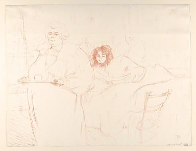 Serving Breakfast (Madame Baron and Mademoiselle Popo), from the series Elles