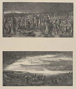 The Departure of the Israelites–Destruction of Pharoah and His Host (Dalziels' Bible Gallery)