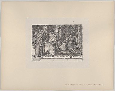 Joseph Presents His Father to Pharoah (Dalziels' Bible Gallery)
