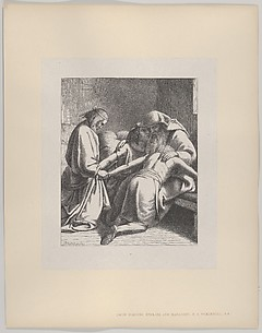 Jacob Blessing Ephraim and Manasseh (Dalziels' Bible Gallery)