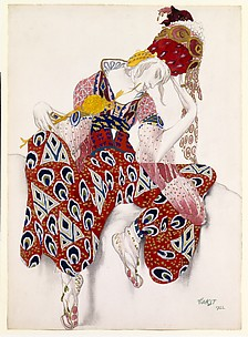 Costume study for Nijinsky in the role of Iksender in the ballet, 