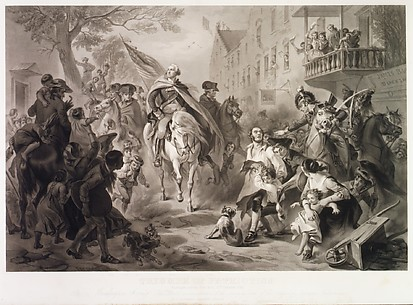 Triumph of Patriotism, Washington Entering New York, 25 November 1783