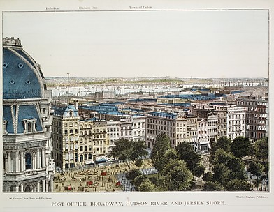 Post Office, Broadway, Hudson River and Jersey Shore