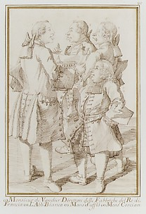The Marquis de Vandires, Abb Jean-Bernard Le Blanc, Germain Soufflot, and Charles-Nicolas Cochin, the Younger