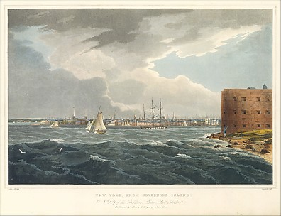 New York from Governor's Island (The Hudson River Portfolio, plate 19 or 20)