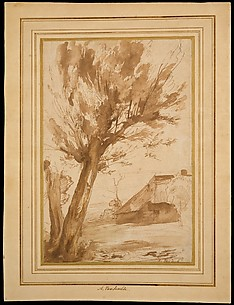 Landscape with a Tree and a Farm Building