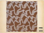 Fabric Design, abstract pattern of meandering dots