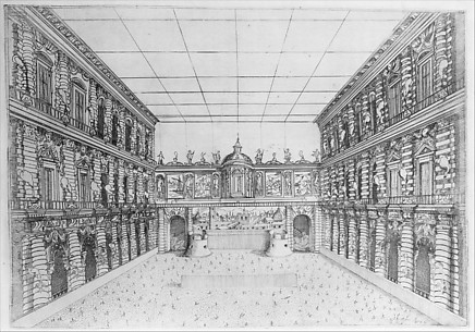Court of Palazzo Pitti from Theatricals and Decorations at the Wedding of Archduke Ferdinand de' Medici and Christine of Lorraine, Florence 1589