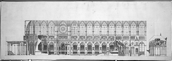 Cross Section of the Nave of Reims Cathedral