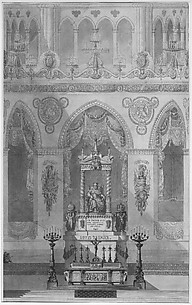 Elevation of Altar with Statue of Louis I, Reims Cathedral