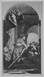 Saint Charles Borromeo Venerating the Crucifix