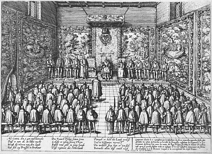 Events in the History of the Netherlands, France, Germany and England between 1535 and 1608