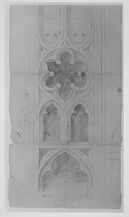 Design for window tracery for Chapman - full size