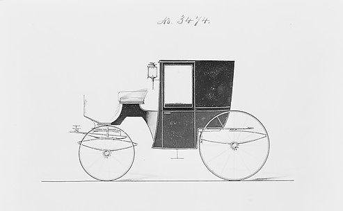 Design for Brougham, no. 3474