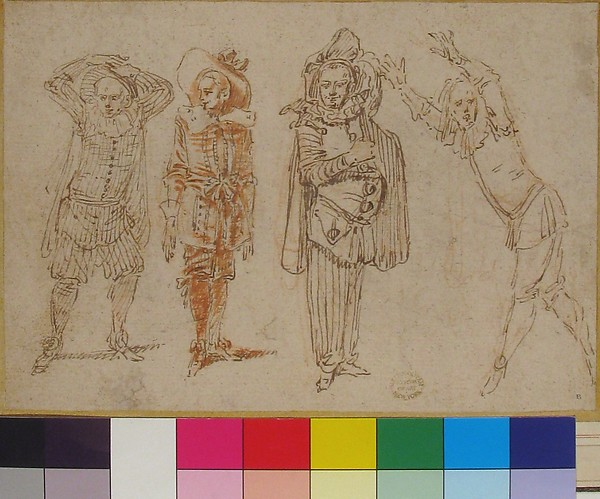 Figures in Theatrical Costumes