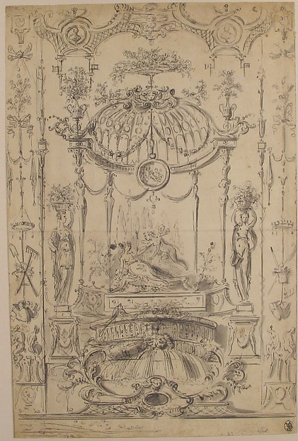 Design for an Arabesque with Cupid and Psyche