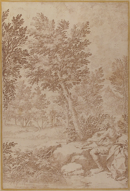 Bathers in a Wooded Landscape