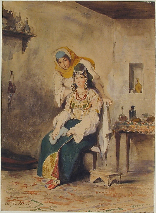 Saada, the Wife of Abraham Ben-Chimol, and Préciada, One of Their Daughters