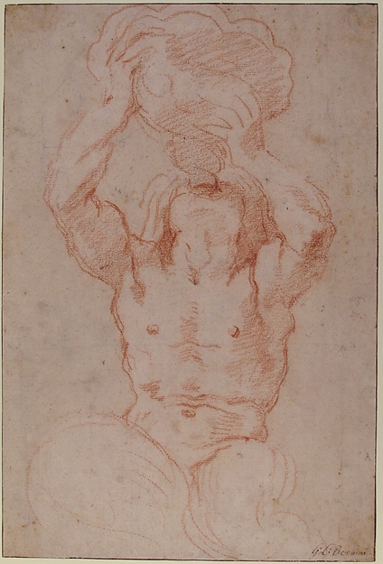 Study for a Triton (recto); Anatomical Studies ? (verso)