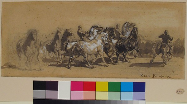 "Study for ""The Horse Fair"""