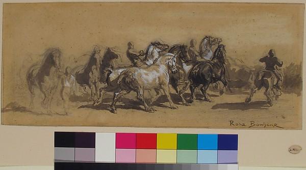 """Study for """"The Horse Fair"""""""
