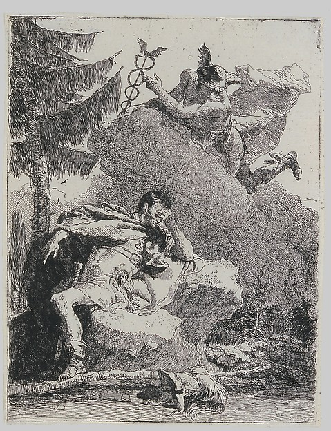 Mercury Appears to Aeneas in a Dream