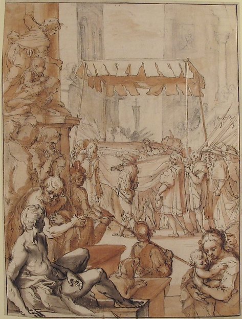 The Body of Saint Catherine of Siena carried in Procession, after Francesco Vanni