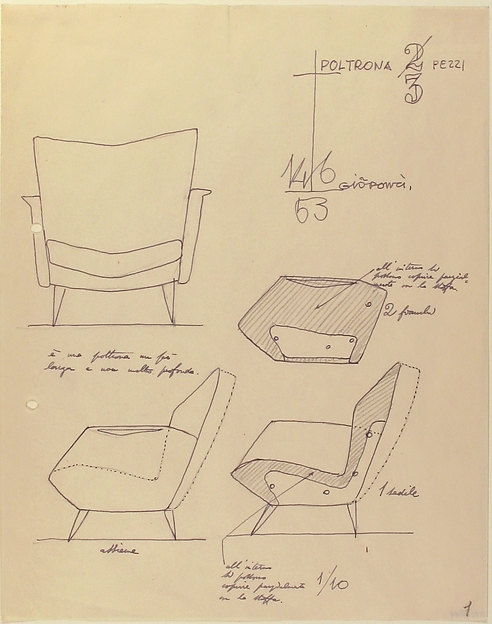 Poltron in Tre Pezzi (Arm-chair in Three Pieces)